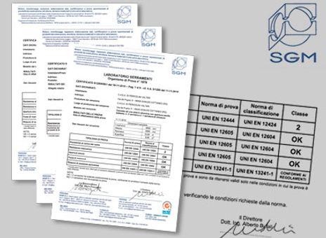 ALUTREND Certificazioni UNI-EN