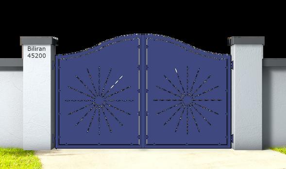 Biliran 45200.Cancello_in_alluminio_aluminium_gates