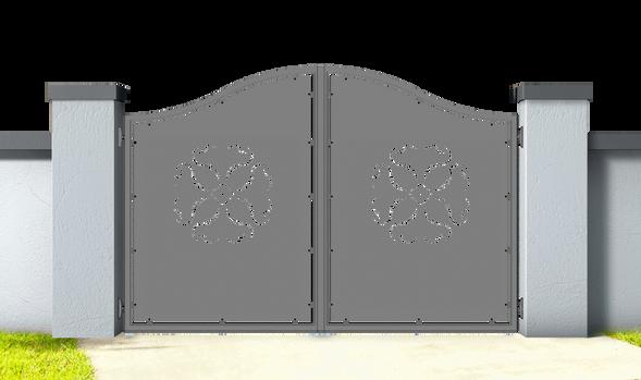 BILIRAN FIORE.Cancello_in_alluminio_aluminium_gates
