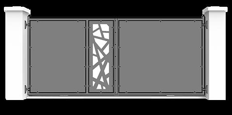 Cancello base laser 3 pannelli + colonne