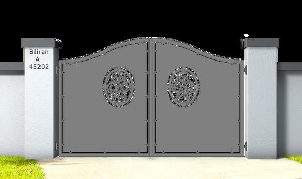 Biliran A45202.Cancello_in_alluminio_aluminium_gates