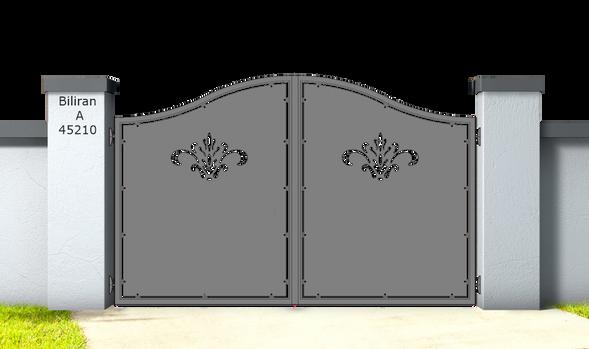 Biliran A45210.Cancello_in_alluminio_aluminium_gates