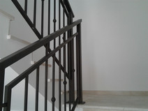 Aluminum railing for internal staircase Model B009