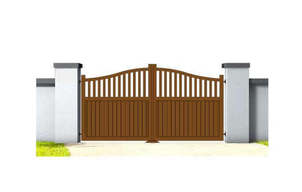 Corinne aluminium gate