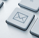 Internet email communication concept wit
