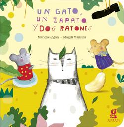 Un gato, un zapato y dos ratones