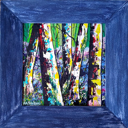Abstract - 'Bluebells and Birch