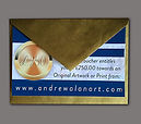 Original art gift vouchers in luxury gold envelopes gift ideas
