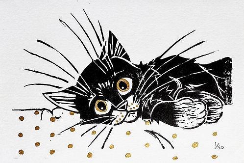 Lino cut Limited Editions - Kitten