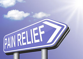 pain relief directional sign