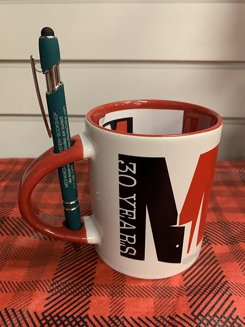30th Anniversary Mug with Bookshop Pen