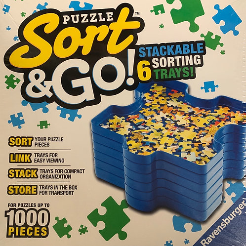 Puzzle Sort and Go! Stackable Sorting Trays