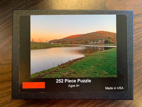 Lake at Sunset Puzzle