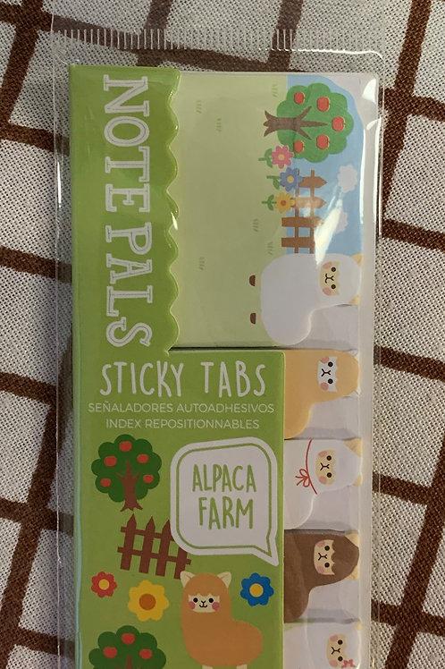 Sticky Tabs - Alpaca Farm