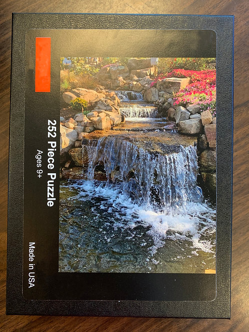 Waterfall with Flowers Puzzle