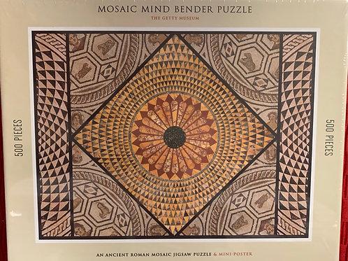 Mosaic Mind Bender Puzzle: An Ancient Roman Mosaic Jigsaw Puzzle & Mini-Poster