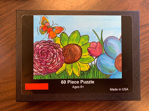 Butterfly with Flowers II Puzzle