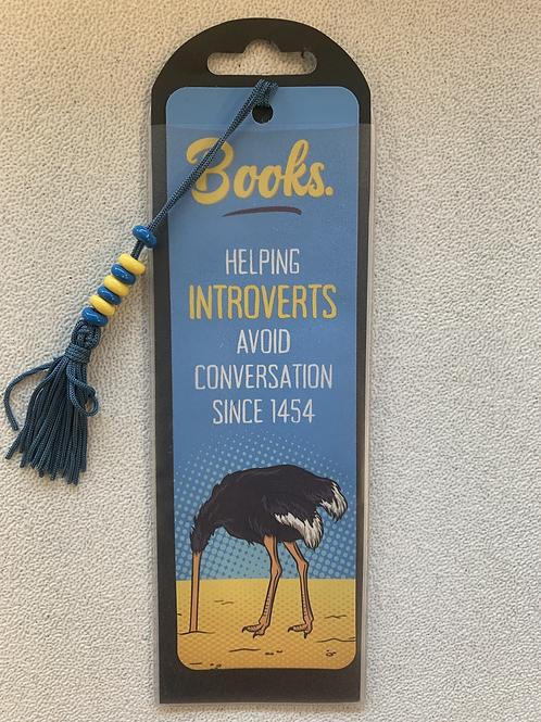 """Helping Introverts Avoid Conversation"" Bookmark"