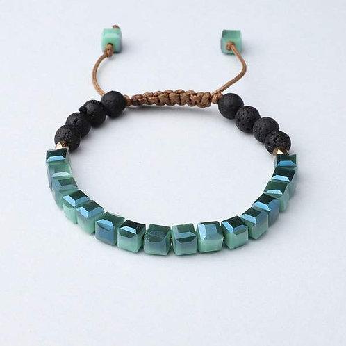 Jade Glass Diffuser Bracelet