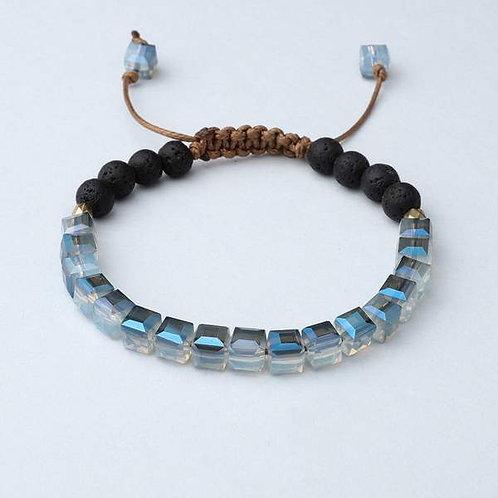 Ocean Blue Glass Diffuser Bracelet