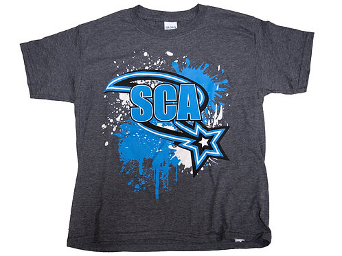 Grey Splatter Swoosh T-Shirt