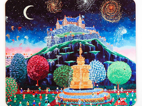 Castle and Fireworks placemat