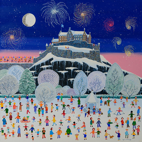 Winter Fun and Fireworks Print