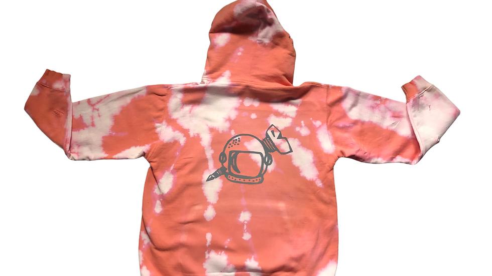 Pink Bleached Distressed Hoodie