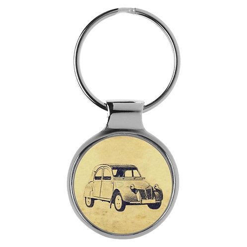 Für Citroen 2CV 1956 Fan Schlüsselanhänger A-5564