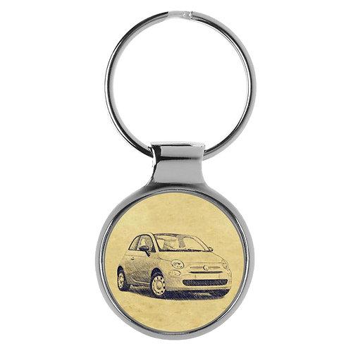 Für FIAT 500 Pop Modellpflege Fan Schlüsselanhänger A-5210