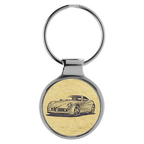 Für Alfa Romeo 8c Fan Schlüsselanhänger A-20341