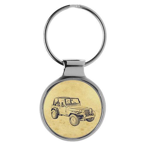 Für Jeep Wrangler YJ Fan Schlüsselanhänger A-5480