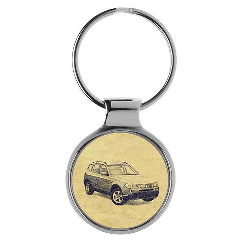 Für BMW X3 E83 Modellpflege Fan Schlüsselanhänger A-4624