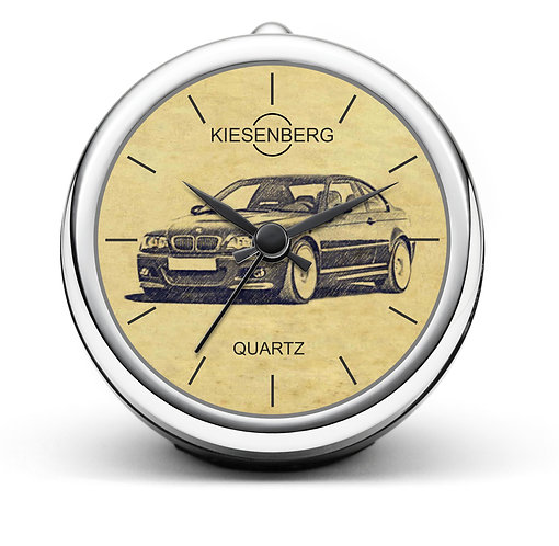 Für BMW E46 Coupe Fan Tischuhr T-4052