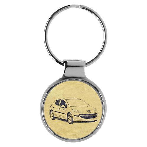 Für Peugeot 207 Fan Schlüsselanhänger A-4324