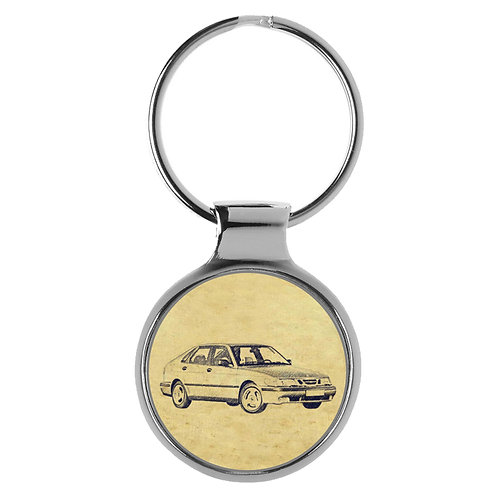Für Saab 9-3 Limousine Fan Schlüsselanhänger A-4789