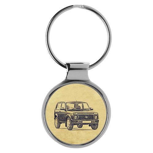 Für Lada Niva 4x4 WAS-21214 Fan Schlüsselanhänger A-4709