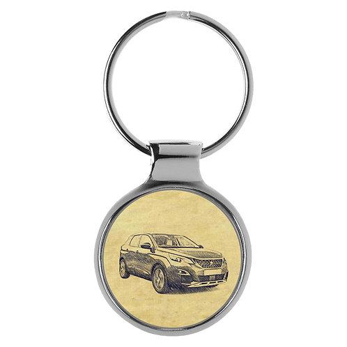 Für Peugeot 3008 II Fan Schlüsselanhänger A-4334