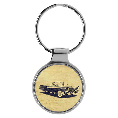 Für Ford Fairline Sunliner Convertible Fan Schlüsselanhänger A-6441
