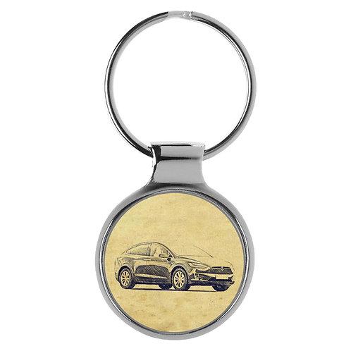 Für Tesla Model X Fan Schlüsselanhänger A-4748