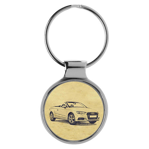 Für Audi A3 8V Cabrio Modellpflege Fan Schlüsselanhänger A-5096