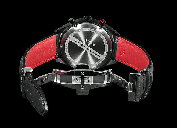 MONTLHERY LEATHER STRAP black / red