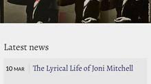My book on Joni Mitchell's Website!