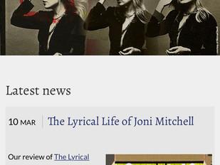 My book on Joni Mitchell's Website!