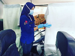 Patient's on board from Kuala Lumpur to