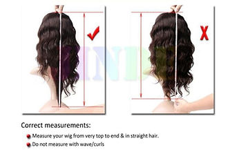 how to measure the length of human hair wigs