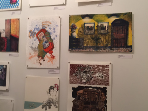 Graphic Nature -- show just hung up at the Waldron!