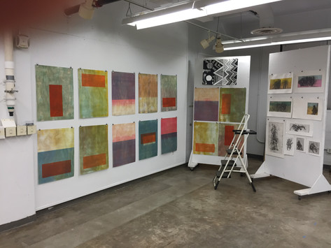 Critique set-up: Big Ol' Color Fields