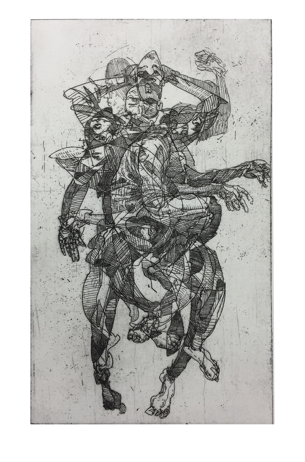 "Expectation VIII, Etching, 19"" x 9"", 2015"