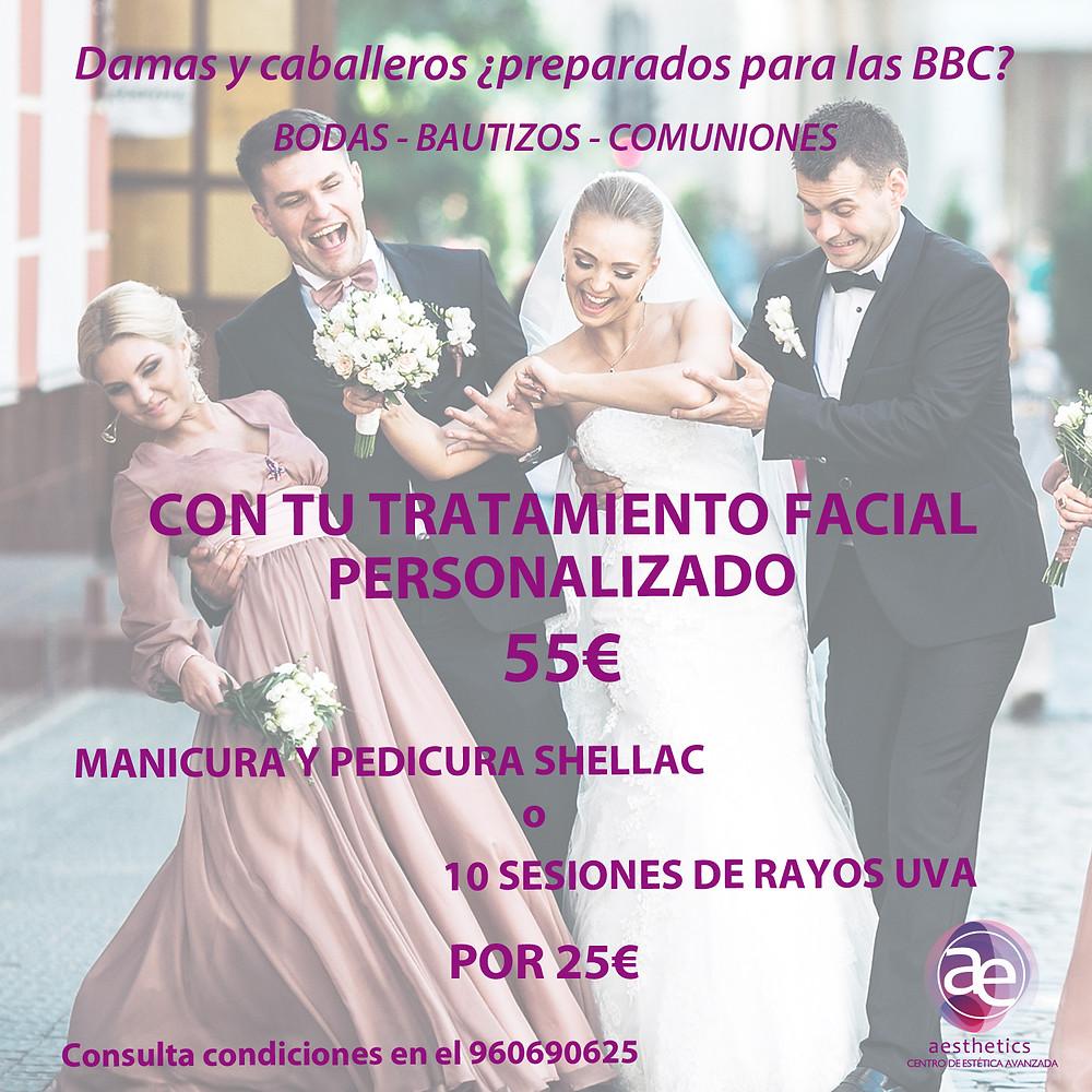 Promoción bodas bautizos y comuniones mayo aesthetics